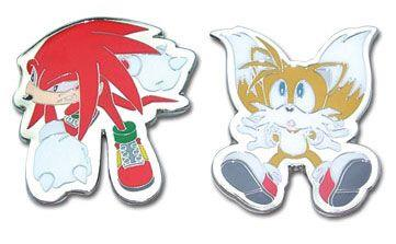 Pins: Sonic X - Knuckles and Tails (Set of 2)