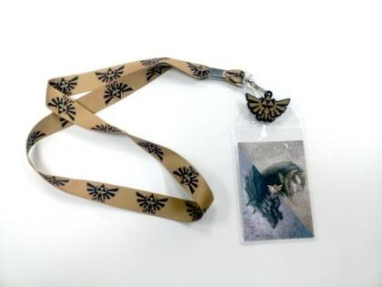 Lanyard: Zelda - Twilight Princess Triforce Logo (GOLD Strap)