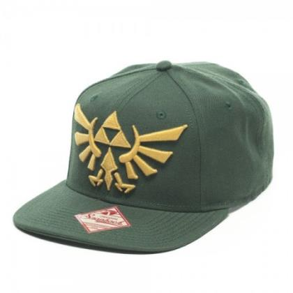 Cap: Zelda - Triforce Gold Emblem on Green